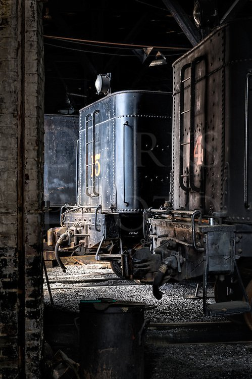 Inside a Steam Locomotive Roundhouse   Steam Railroad Photos For Sale