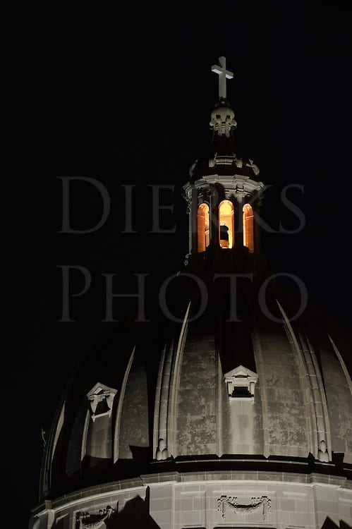 Cathedral Church Dome At Night 12979 Dierks Photo Altoona