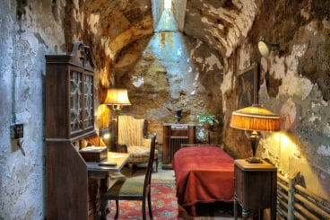"Al ""Scarface"" Capone's actual prison cell in the Eastern State Penitentiary in Philadelphia."
