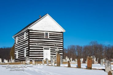Old log church with cemetery from 1806 in Schellsburg, PA, Bedford County.