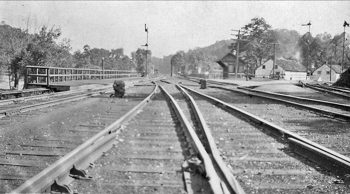 PRR railroad tracks at Ganister PA in the 1930's.