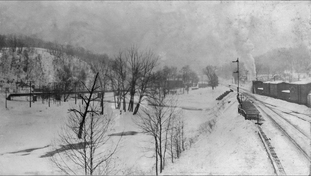 PRR at Ganister PA in winter in the 1930's.