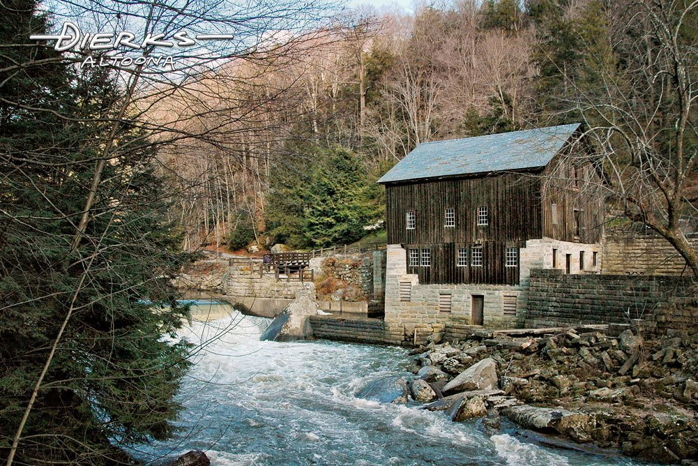 McConnells Mill along Slippery Rock Creek in a Pennsylvania state park.