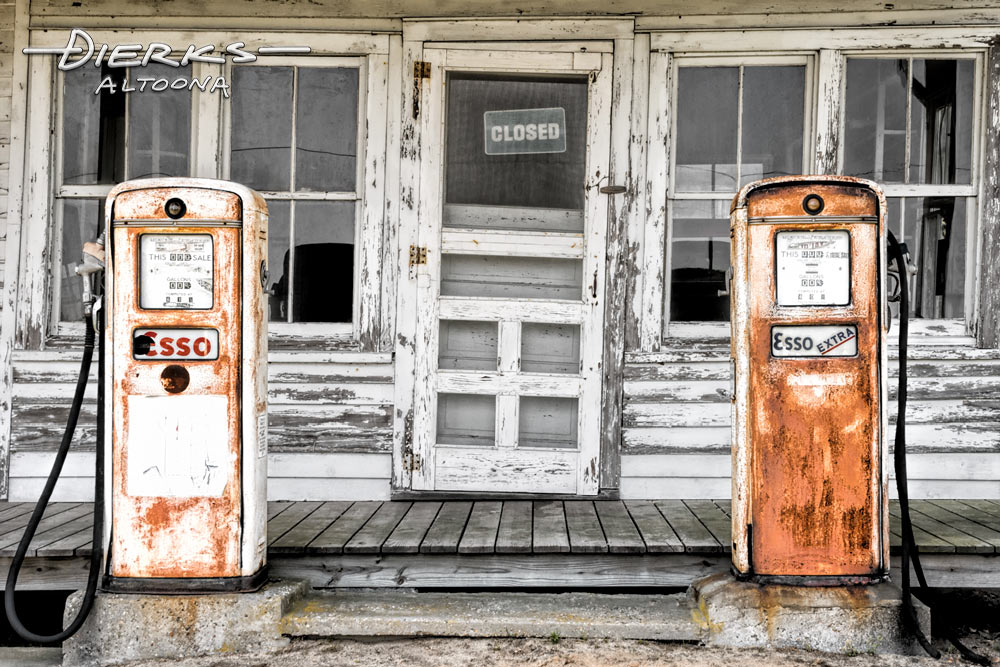 Country Store and Gas Station | Old Gas Station Photo Prints For Sale